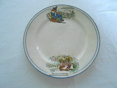 Wellsville china co baby's plate Little boy blue