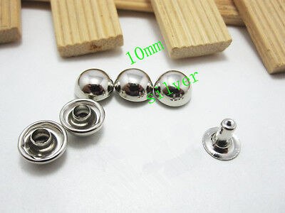 DIY50pcs 10mm Mushroom rivets Clothing rivets, punk rivets, leather crafts ZD17