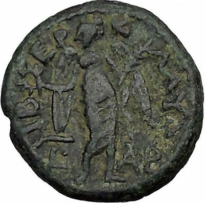 HADRIAN 119AD Tiberias Judaea Holy Jewish City Ancient Roman Coin i44736