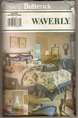 BUTTERICK 5860 WAVERLY BEDROOM CURTAINS PILLOWS PATTERN UNCUT