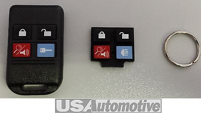 Remote Control 4 Button Key Fob Keyless Entry System - Ford (2W7Z-15K601-Ba)