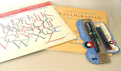 Calligraphy  Starter Set Brause Clairefontaine Sheaffer Calligraphy Tools Set