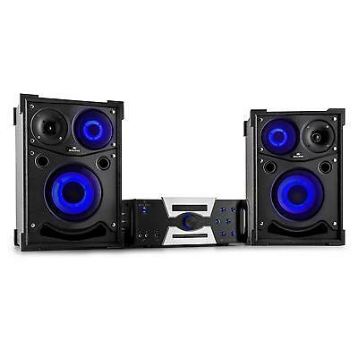 NEU MALONE HOTROD 4000 2x PA BOXEN AV AMP SET 2000W BLUETOOTH KARAOKE MP3 PLAYER