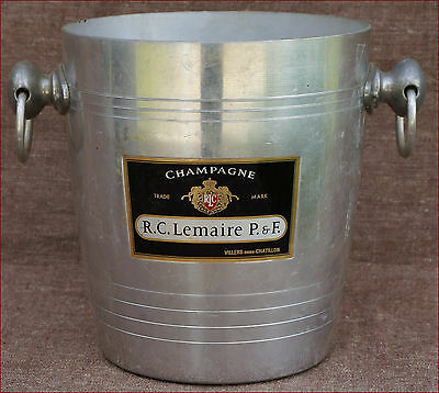 French R C Lemaire Aluminium Champagne Ice Bucket Cooler Rings 70's