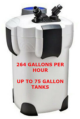 Sunsun Hw302 Canister Filter. 264Gph. Up To 75 Gallon Tanks.