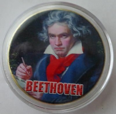 Beethoven    24K GOLD  PLATED MEMORABILIA COIN #!