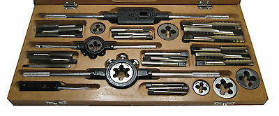 "RDG TOOLS 1/4"" - 3/4"" UNC Tap and Die set with die stock and tap wrench"