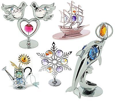 Crystocraft Collectable New Crystal Ornaments with Swarvoski Elements Gift Set