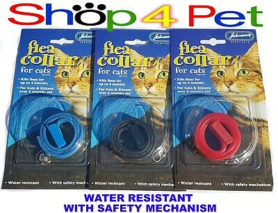 """Cat FLEA Collar """"Plastic"""" JOHNSONS  With or Without a ENGRAVED PET ID TAG / Tags"""