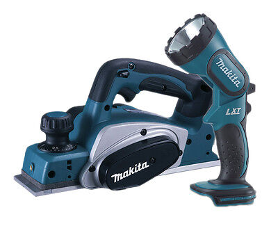 SPECIAL Makita DKP180 18v LXT 82mm Planer Lithium Ion Cordless + BML185 TORCH