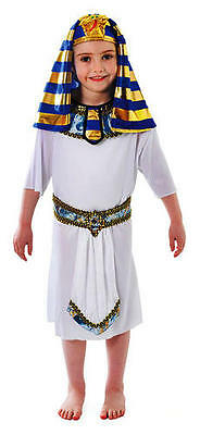 Childrens White Tunic Fancy Dress Costume Egyptian Pharaoh Kids Outfit 4-9 Yrs