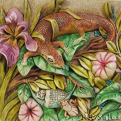 Lizard New Harmony Kingdom Picturesque Tile Byron's Secret Garden The Long Sleep