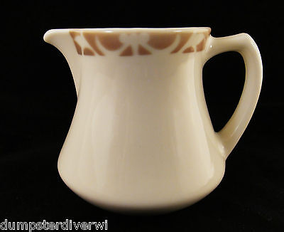 "Syracuse Nutmeg Tan Light Brown Creamer 3.75"" China vintage Restaurant Ware 60s"