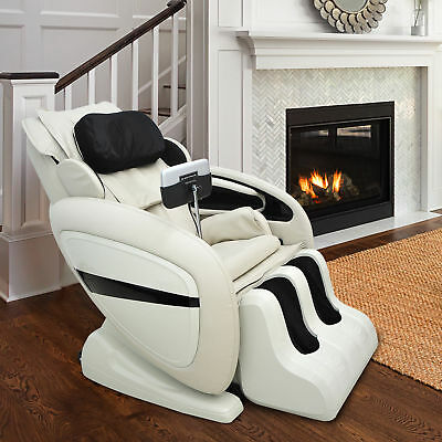 Luxury Zero Gravity Reclining Leather Massage Chair Recliner Heating Automatic