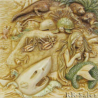 Mermaid & Shark New Tile Harmony Kingdom Noahs Park Picturesque Point Siren Song