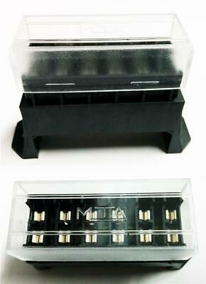 Quality 12 Volt Standard Blade Fuse Holder Box Car 6 Fuses Alarm Wiring Relays