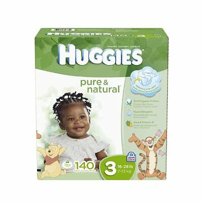 Huggies Pure and Natural Diapers  Size 3  140 Count