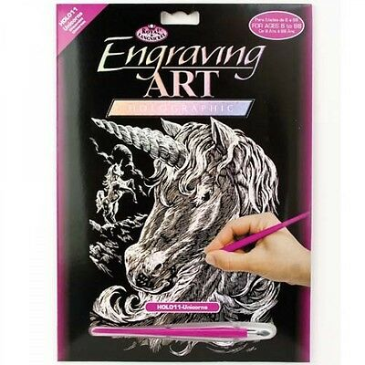 Engraving Art Set – Unicorns – Holographic by Royal and Langnickel