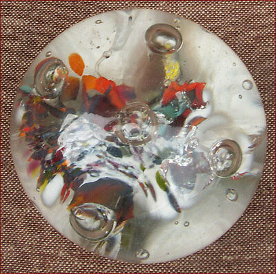 French Art Glass Carnival Scrambled Magnum Paperweight Meisenthal 1850