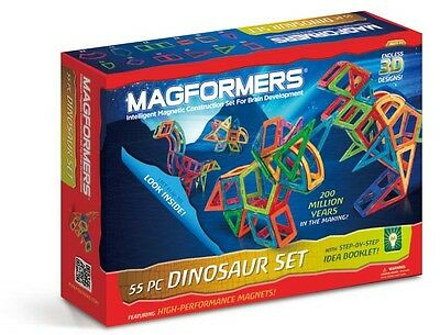 Magformers 63104 Dinosaur 55 Piece Magnets Magnetic Construction Set NEW
