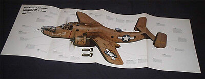 HUGE! NORTH AMERICAN B-25 MITCHELL BOMBER POSTER picture print wwii usaaf