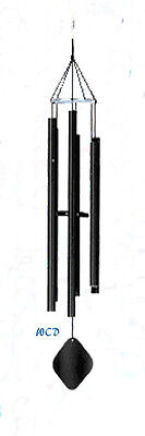 Music of the Spheres Whole Tone-Alto wind chime Powder coated black matte