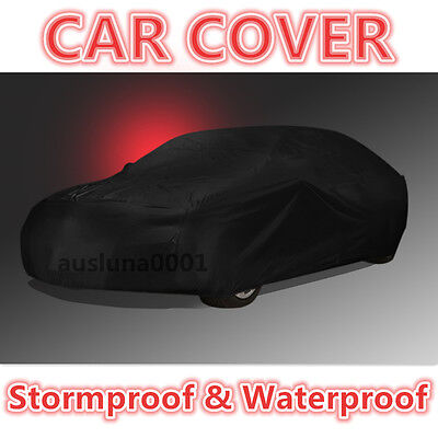 Stormproof New Breathable Black CAR COVER Outdoor Dust UV 100% Brand New 4600MM