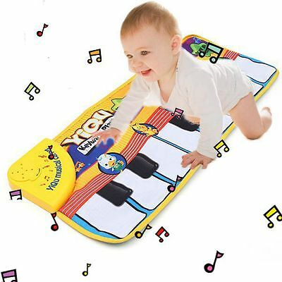 NEW Touch Play Keyboard Musical Music Singing Gym Carpet Mat Kids Baby Gift Tide