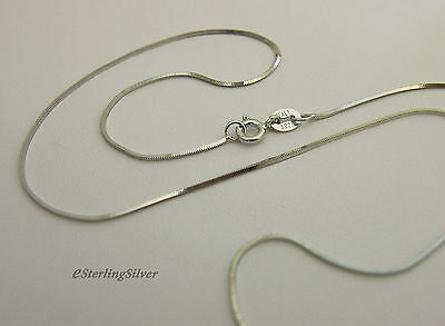 """925 Sterling Silver Snake Chain / Necklace - 18"""" Inches, 2.5 Grams, 0.8mm"""