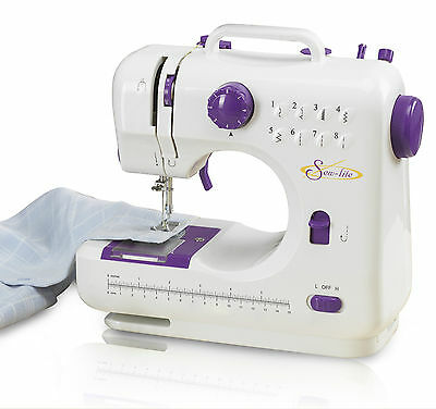 Compact Lightweight Mini Portable Electric Sewing Machine & Foot Pedal with Case