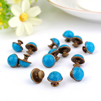 DIY20 pcs10mm accessories Blue crack rivets leather craft punk studs ZD34