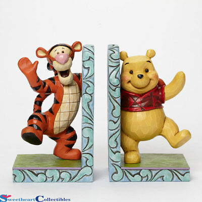 Jim Shore Disney 4043661 Pooh and Tigger Hugging Bookends New 2014