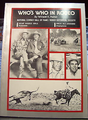 Who's  Who in Rodeo  cowboy book  BY Willard H Porter