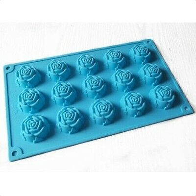 15-Rose Shape Mold Silicone Mould For Candy Chocolate Cake Mold Soap Mold FPP