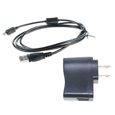 USB AC/DC Power Adapter Cord Camera Battery Charger For Olympus SZ-14 MR SH-21