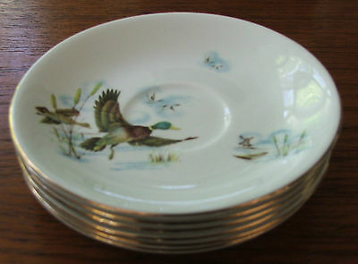 Set of Six Meakin Flying Ducks Saucers