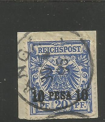 German E. Africa , # 4, Used, F/VF, on piece CV $ 16.00
