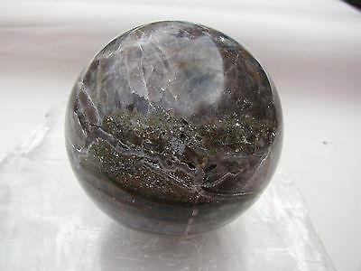 102 Mm Natural Amethyst Agate Sphere ~ Wow 3.5 Pounds! ~ Crown ~ Creativity 4444
