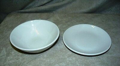 Homer Laughlin White Vitreous China Dinnerware Bowl and Dish - marked Lead Free