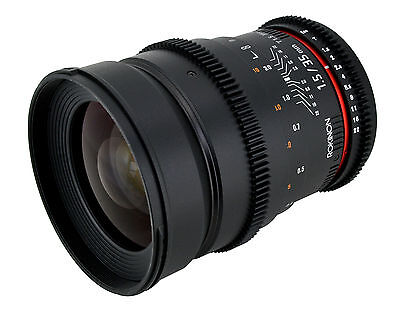 Samyang 35mm T1.5 Cine Wide Angle Lens  w/ De-clicked Aperture For Canon