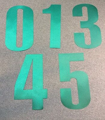 "New OREGON DUCKS Green 8"" Tall Iron-On JERSEY NUMBERS for Football / Basketball"