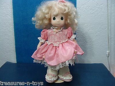 LARGE PRECIOUS MOMENTS DOLL WITH STAND DATED 1993 COLLECTIBLE