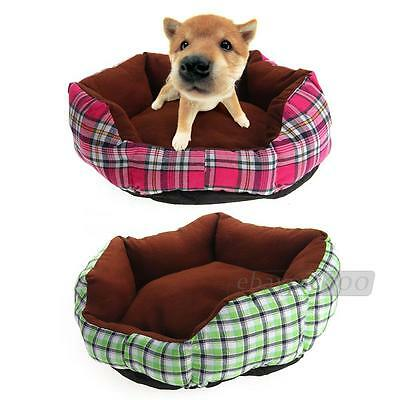Pet Puppy Dog Cat Cotton Pad Bed Nest Sleeping Warm Gift Checked Pattern S Hot