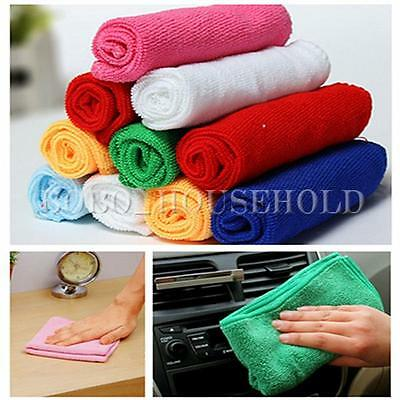 10Pcs Mixed Color Microfiber Car Cleaning Towel Kitchen Washing Polishing Cloth