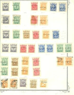EDW1949SELL : MEXICO 1915 Sc#O86-91 Specialized group incl. Imperfs Invert Ovpt+