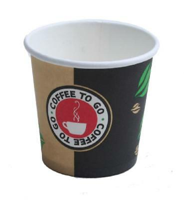 1000 Espressobecher 100ml ! Pappbecher Coffee to go Becher Hartpapierbecher