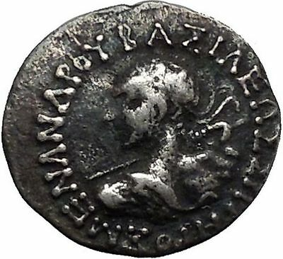 Menander I Soter 160BC Indo Greek Baktrian Kingdom in India Ancient Coin i45000