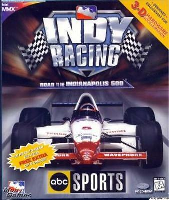 ABC Sports Indy Racing PC CD authentic IRL professional league car race sim game