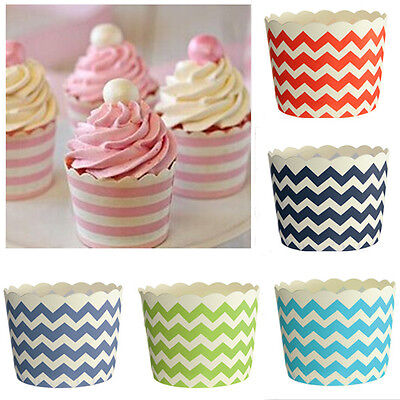 50x Christmas Xmas Cupcake Case Baking Cup Paper Liner Craft Party Wedding