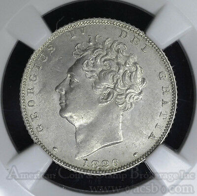 Great Britain 6 Pence 1826 MS62 NGC silver KM#698 Lion Bare Bust George IV.